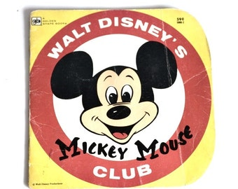 Mickey Mouse Club Book 1980 Golden Shape Book