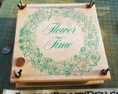 Flower Time, wood flower press, Make pressed flowers, leaves, herbs