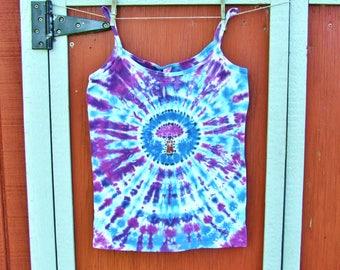 Women's Large Tie Dye Tank Top - Magic Mushroom - Ready to Ship