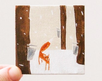 tiny maple / original painting on canvas