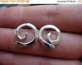 SALE - Black Friday XS Swirl Post Earrings in Sterling silver