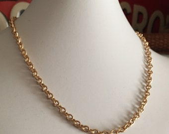 Gorgeous Heavy Gold Electroplated Necklace with BONUS Bracelet - 18inch -