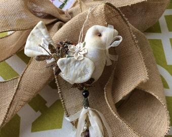 Christmas Dove Ornament - Dove Tree Ornament
