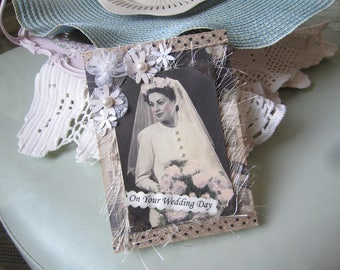 Vintage Bride Card - Vintage-style Wedding Card - Old-fashioned Bridal Card