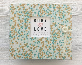 Mint and Gold Shimmer | BABY BOOK