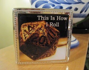 Dice Box Custom Made Velvet Lined Dungeons and dragons