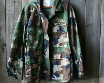 Vintage Camo Army Jacket Vintage From Nowvintage on Etsy