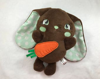 Brown Floppy Ear Bunny - Mint Stuffed Easter Bunny - Easter Bunny - Plush Easter Rabbit - Lop Eared Bunny - Mint Chocolate