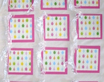 50% OFF Spring Cleaning 5767: 12 pack of handmade gift tags with ties