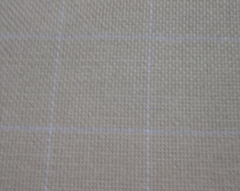 1 yard of cotton monks cloth for rug hooking with 2 x 2 grid