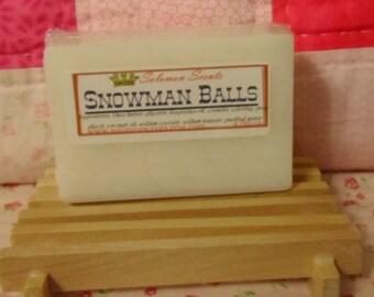 Snowman Balls Shea Butter soap