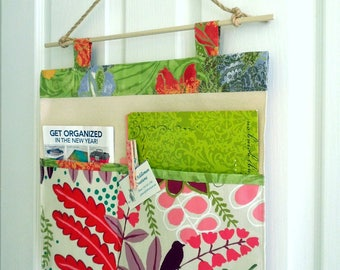 SALE Wall or Door Hanging Organizer in a Two Pocket Design