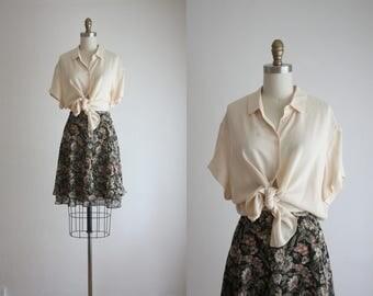 blush silk blouse
