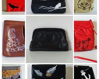Custom painted vintage purse