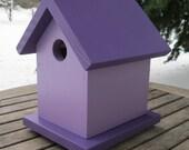 Birdhouse, Two-Tone Purple