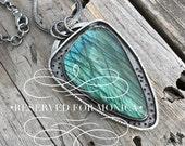 Sterling Silver Labradorite Necklace Handmade By Joy Kruse Wild Prairie Silver Jewelry