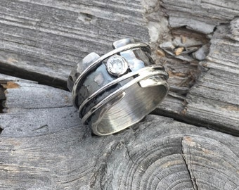 Sterling Silver Ring Sterling Silver Diamond Ring Handmade By Wild Prairie Silver Jewelry or stone of your choice