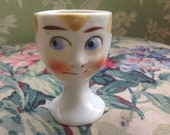 Vintage Anthropomorphic Little Boy Egg Cup