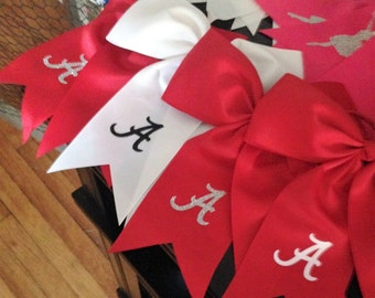 sports team ponytail cheer bows +