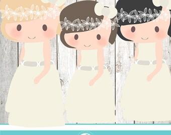 My communion (girl -niña) cliparts) - COMMERCIAL USE OK