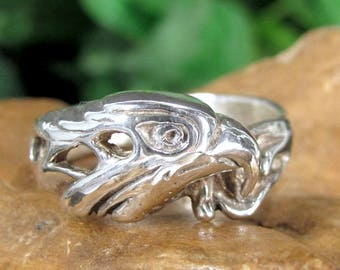 AMERICAN EAGLE STERLING Ring Silver Figural Band 925 Size 11.25