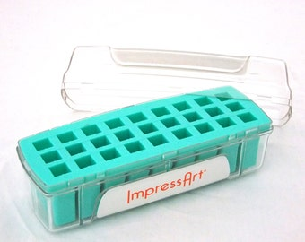 Letter Stamp Storage Box 6mm 27 Space Teal In Color