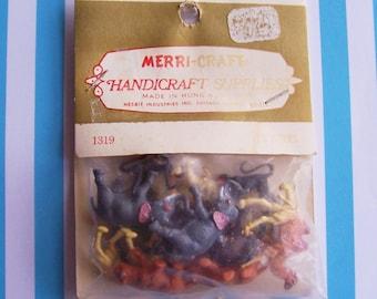 12 Vintage Merri-Craft Miniature Animals still in original package