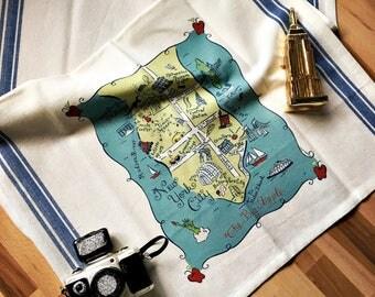 New York City Map Kitchen/Tea Towel