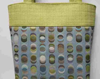 Circles with Green top Purse