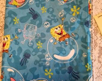 Blue Sponge Bop  Fabric