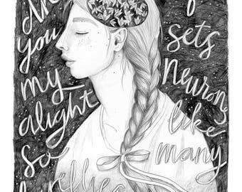 Fireflies | 11x14 Digital Print of Original Illustration