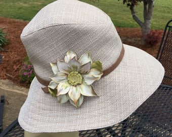 Linen Sunhat in Straw