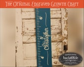 "SALE!! Engraved wood ruler growth height chart (The Christopher) - premium engraved lettering 60"" (GC-60Chr) children kid baby nursery"