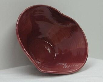 Deep Pink Porcelain Heart Bowl