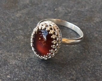 Rings, Sterling Silver Ring, Silver Rings, Garnet Ring, Silver and Garnet Ring, Hessonite Garnet Ring, Made to Order