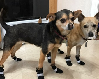 M Waterproof Dog Booties with velcro Lined with Fleece