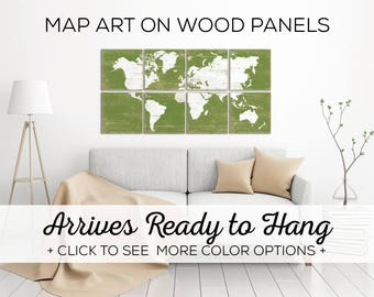 Browse our Colorful World Maps for Sale - Over 25 Color Options Available - Perfect for Office Wall Art