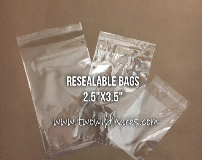 "500- 2.5""x3.5"" POLYPRO, Resealable Tape Strip Bags, Clear as Glass, Ideal Wax Melt Packaging"
