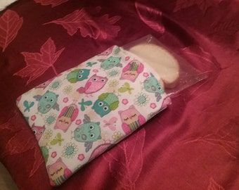 Sandwich Bag with owl fabric, sale BUY 3 GET 1 FREE