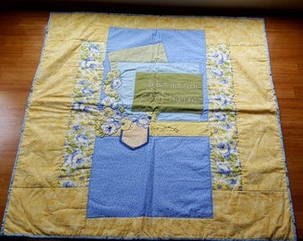 """Adorable, one of a kind, baby quilt """"Sweet Beginnings"""""""