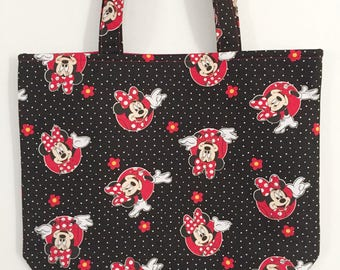 50% OFF SALE - Minnie Mouse Tote Bag/Book Bag/Preschool Tote