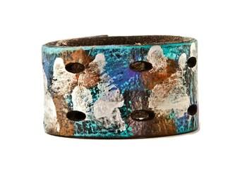 Cuff Bracelet - Turquoise, Red, Orange, Silver, Metallic, Black, Purple, Blue