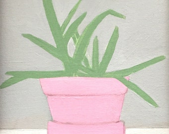 Aloe Plant // Framed // Original Acrylic Painting