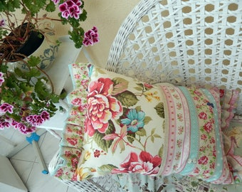 Pretty pink roses pretty fabrics make pretty shabby chic pillow