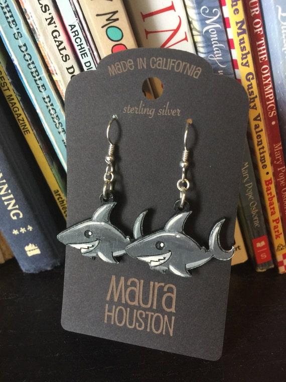 Happy shark earrings