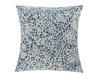 BLUE Pillow Cover.Decorator Pillow Cover.Home Decor.Large Print. STELLA NAVY. Cushions. Cushion.Pillow. Premier Prints
