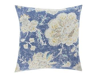 BLUE Pillow Cover.Decorator Pillow Cover.Home Decor.Large Print. SEABROOK HARBOR. Cushions. Cushion.Pillow. Premier Prints