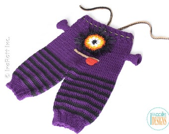 Silly  Creatures Alien Monster Crochet Pants for 6 Months Size -  Ready to Ship