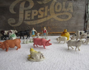 Vintage Farm Animals Made in Hong Kong