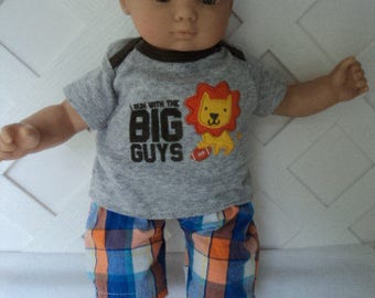 Bitty Baby Boy 2 pc. cute Lion  pants set, doll clothes